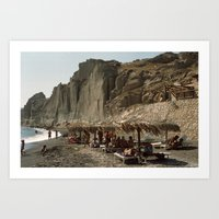 Eros Beach, Santorini Art Print