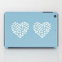 Hearts Heart X2 Light Bl… iPad Case