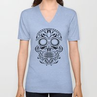 Day Of The Dead Skull No… Unisex V-Neck