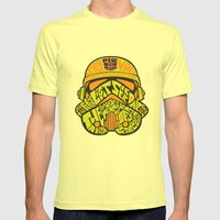 Neon Trooper. Mens Fitted Tee Lemon SMALL