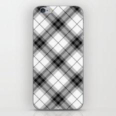 Black and White plaid iPhone & iPod Skin
