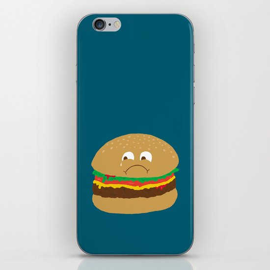 Sad Hamburger iPhone & iPod Skin