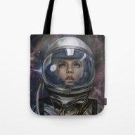 Astro Girl Tote Bag