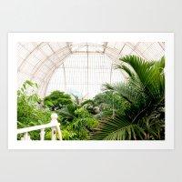 Kew Gardens palm house Art Print