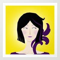 Purple and Yellow Art Print