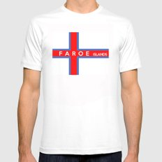 faroe islands country flag name text White Mens Fitted Tee SMALL