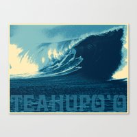 Teahupo'o Wave Print Canvas Print