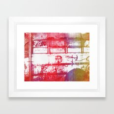 Abandoned Bus Framed Art Print