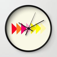 Arrows II Wall Clock