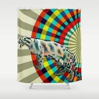 Clouded ( Rainbow ) Leop… Shower Curtain