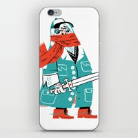 Creepy Scarf Guy iPhone & iPod Skin