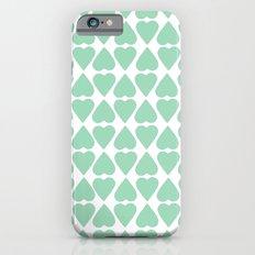 Diamond Hearts Repeat Mint iPhone 6 Slim Case