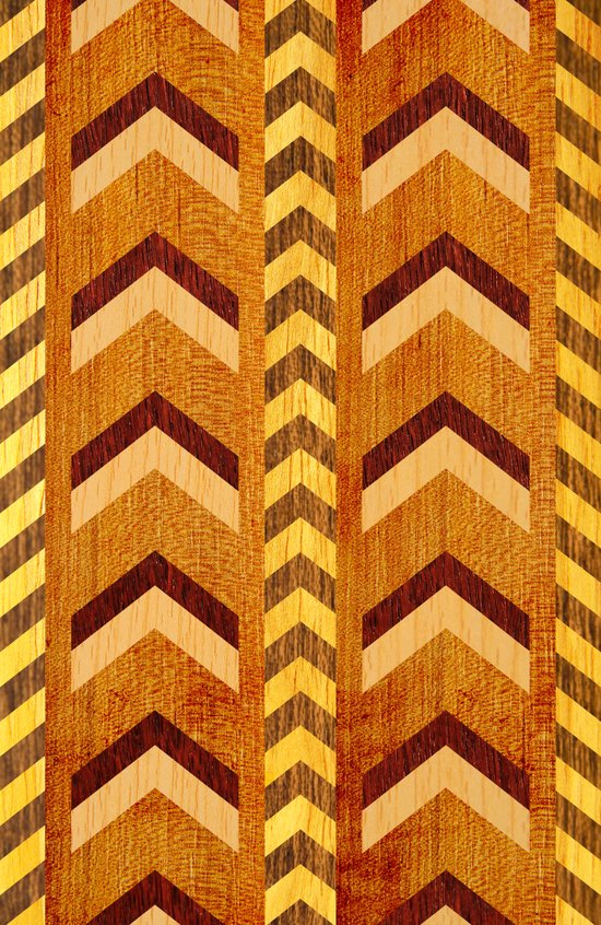 Wood Inlaid Chevrons Canvas Print