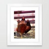 Hens in the House Framed Art Print