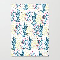 bright flowers. Illustration, pattern, flowers, floral, print,  Canvas Print