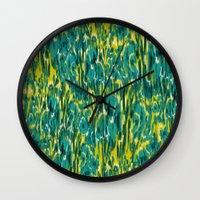 Ikat Floral Wall Clock
