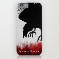iPhone & iPod Case featuring Send a Raven by Lee Grace Illustration