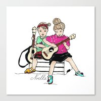 Strummin' Sisters Canvas Print