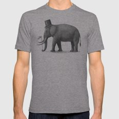 Elephant Day  Mens Fitted Tee Tri-Grey SMALL