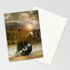 Music Man in the City, by Eric Fan and Viviana González Stationery Cards