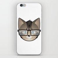 Tabby Glasses iPhone & iPod Skin