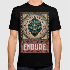 Endure Mens Fitted Tee Black SMALL