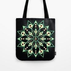 Peace Tile Print Tote Bag