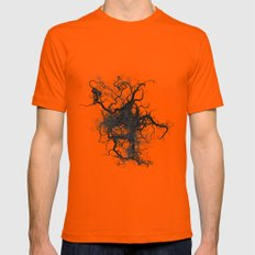 Root Mens Fitted Tee Orange SMALL