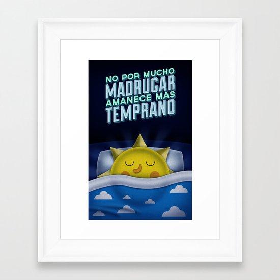 Sleeping Sun Framed Art Print