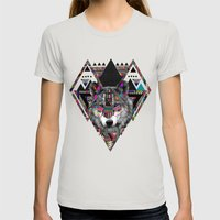 SPIRIT OF MOTION Womens Fitted Tee Silver SMALL