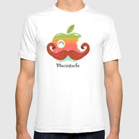 The Macinstache Mens Fitted Tee White SMALL