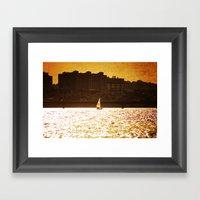 City Backdrop Framed Art Print