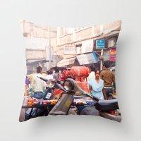 India New Delhi Paharganj 5577 Throw Pillow