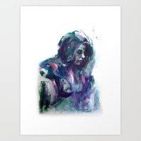 Melancholy Mood Portrait Art Print