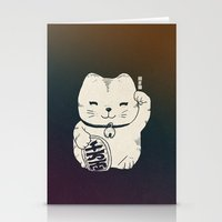FORTUNE CAT Stationery Cards