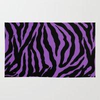 Purple Zebra Background Rug