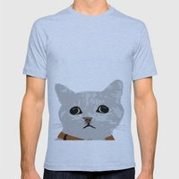 Grey Cat Mens Fitted Tee Athletic Blue SMALL