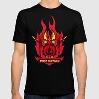 Avatar Nations Series - Fire Nation Mens Fitted Tee Black SMALL
