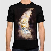 Little Owl Boy and the Milky Way Mens Fitted Tee Black SMALL