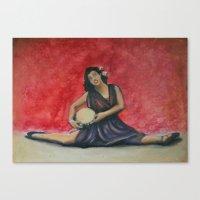 Folk Ballet Canvas Print