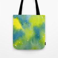 Vibrant sunshine tree top Tote Bag