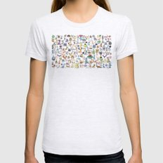 Gotta catch 'em all ! Womens Fitted Tee Ash Grey SMALL