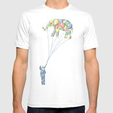 Elephants Can Fly SMALL Mens Fitted Tee White