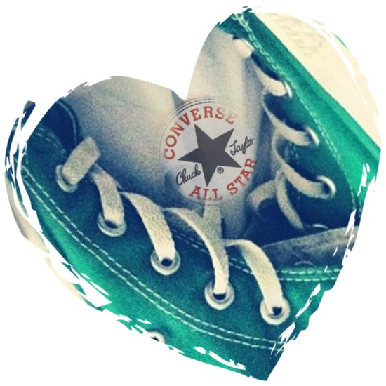 Converse Love in White Art Print