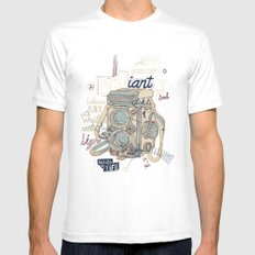 light=life SMALL White Mens Fitted Tee