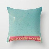 Pink Candy Floss Throw Pillow