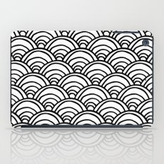 Waves All Over - Black and White iPad Case