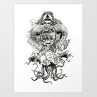 Art Print featuring Demon by Niklas Forss