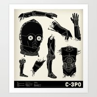 Decommissioned: C-3P0 Art Print