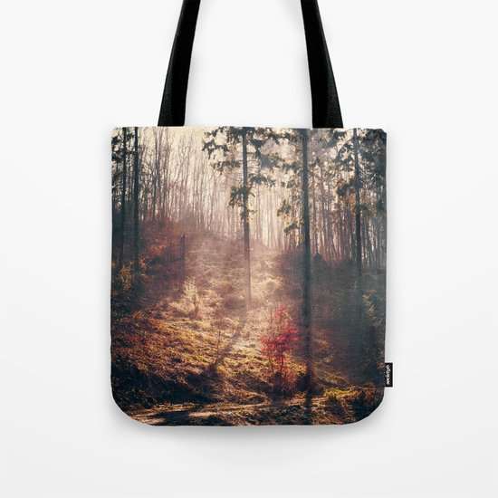 Little Red Tree Tote Bag